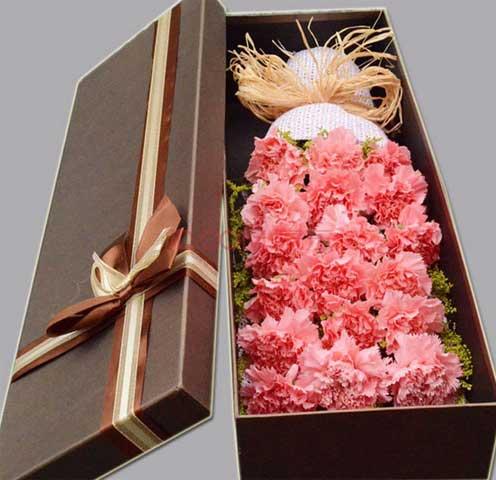 结婚纪念日蛋糕_想你/19支康乃馨礼盒 - 六朵花