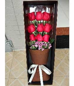 9支玫瑰礼盒,梦里有你