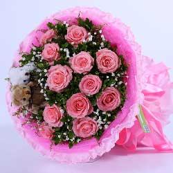 11支粉玫瑰,我只在乎你