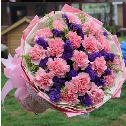愿你这一年称心如意/19枝粉色康乃馨