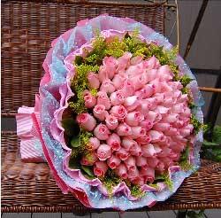 粉玫瑰99支/我想想和你相携相伴,共创美好的未来!