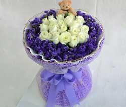 爱上你是我今生最大的幸福/19支白玫瑰