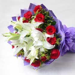 红玫瑰16支/想你就是那么幸福
