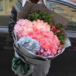 19支玫瑰康乃馨/夕阳下的风是那么无私,那么柔美
