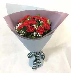 11支红色康乃馨/妈妈,无论在哪里我永远爱您