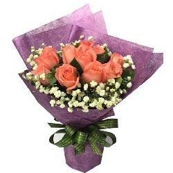 想你,一起的日子/9支粉色玫瑰