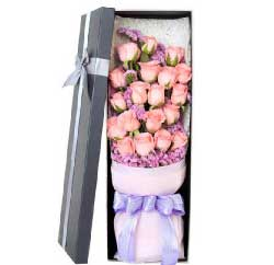 我在心底深深说爱你/19支粉玫瑰