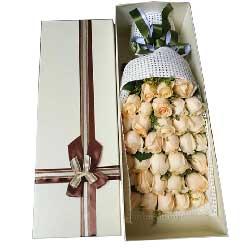 爱你,给你幸福快乐/33枝香槟玫瑰