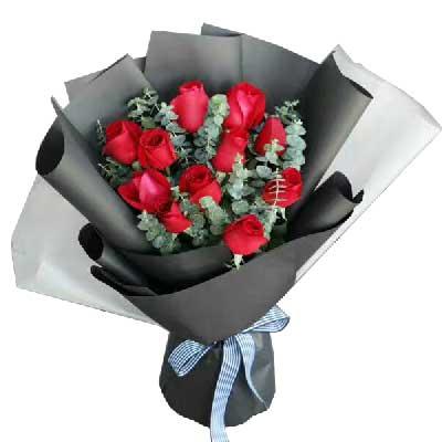 我愿意一辈子为你做牛做马/11支红色玫瑰