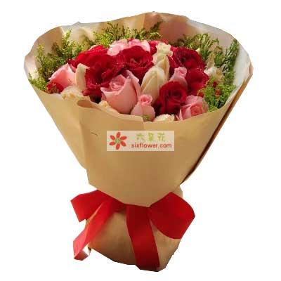 我愿意陪你一辈子/27支玫瑰