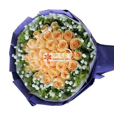 一天比一天更爱你/29支香槟玫瑰