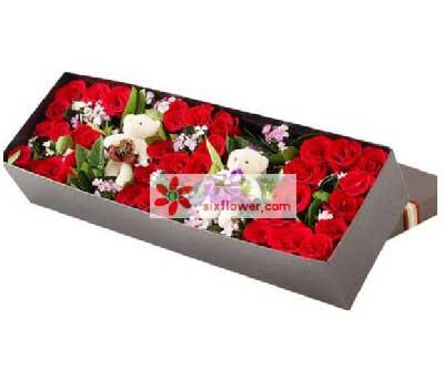 我愿意走进这美妙的爱情世界/33支红色玫瑰