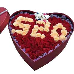 我心里只有你一个人/99枝玫瑰礼盒