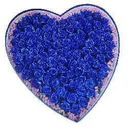 一生一世的幸福/99枝蓝色玫瑰礼盒