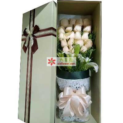 让我领悟爱情/19支香槟玫瑰礼盒