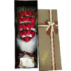 亲爱的我只爱你/19支红色玫瑰