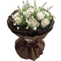 每一天灿烂美丽/11枝白色玫瑰