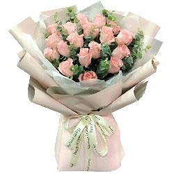 永恒的爱/19枝粉色玫瑰