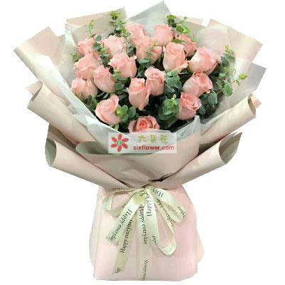 永恒的爱/19支粉色玫瑰