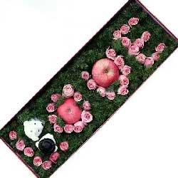 39支玫瑰礼盒,苹果礼盒,深情的爱