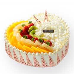 精彩每一天/8寸圆形鲜奶水果蛋糕