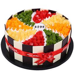 生日快乐/8寸水果奶油蛋糕
