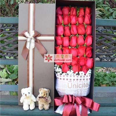 今生手相牵/33枝红玫瑰礼盒