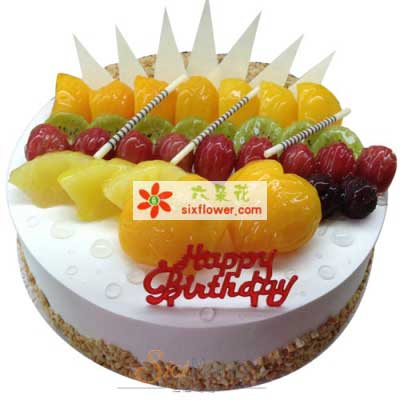 每天都快乐/8寸水果蛋糕