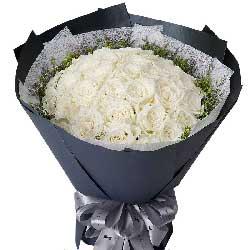 想念你的人/33支白色玫瑰
