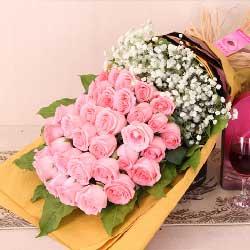 爱你每一天/33枝粉玫瑰
