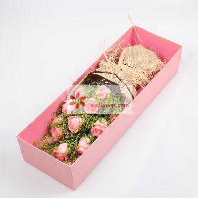 11支粉玫瑰礼盒,我的爱人