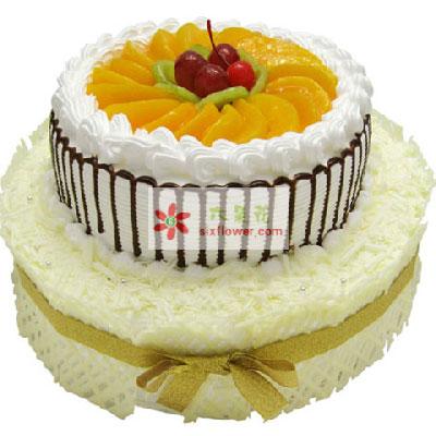 美丽时刻/双层水果鲜奶蛋糕