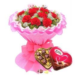 爱永生不变/11枝红玫瑰巧克力
