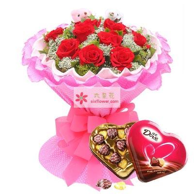 爱永生不变/11支红玫瑰巧克力
