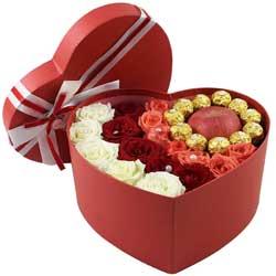 19支玫瑰巧克力,苹果礼盒装,一生幸福