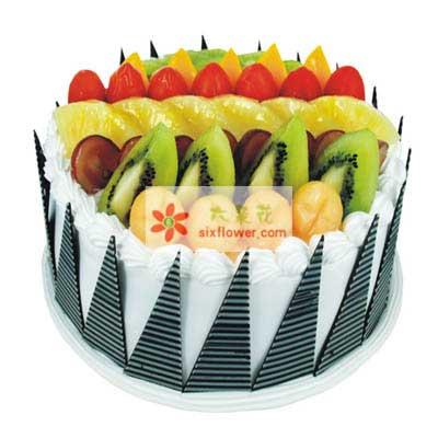 全部的爱/8寸圆形鲜奶水果蛋糕