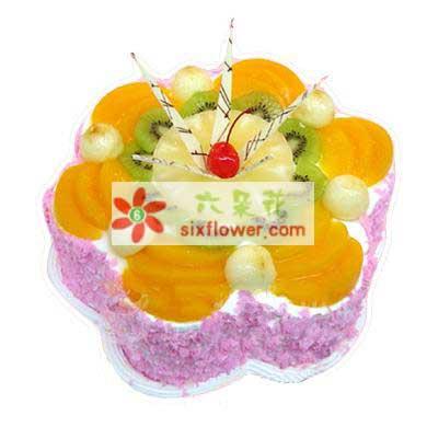 温暖与你同在/8寸鲜奶水果蛋糕