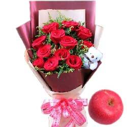 今生的缘分/11枝红玫瑰苹果
