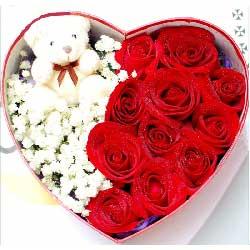 和你在一起/11支红色玫瑰礼盒