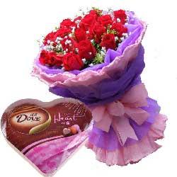 暖暖的情意/19支红玫瑰巧克力