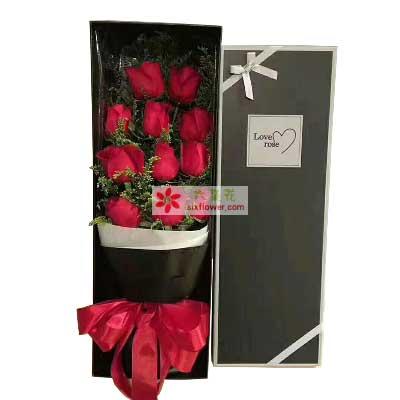 愿我最爱的人幸福/11枝红色玫瑰礼盒