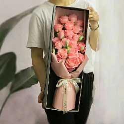 一辈子一起走/20支粉色玫瑰礼盒