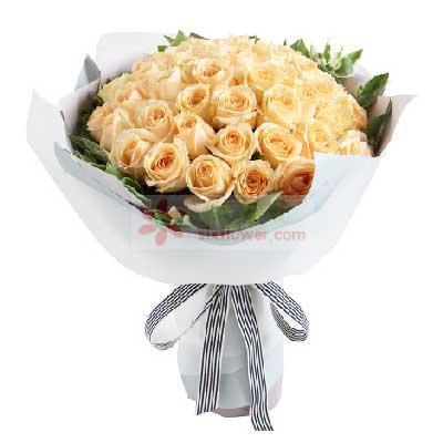 甜蜜的思念/50支香槟玫瑰