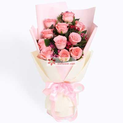 一路同行/11支粉玫瑰
