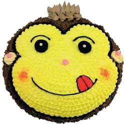 天真可爱/顽皮小猴蛋糕