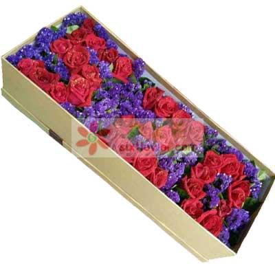 33支红色玫瑰礼盒/我想你了