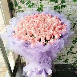 幸福之花/99枝粉玫瑰