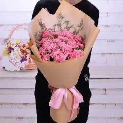 感谢您伴我成长/19枝粉色康乃馨
