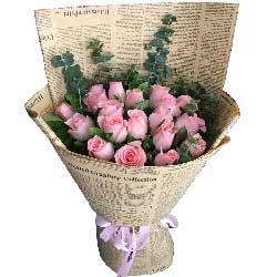 爱的共鸣/19支粉色玫瑰