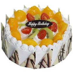 完美相遇/8寸圆形鲜奶水果蛋糕